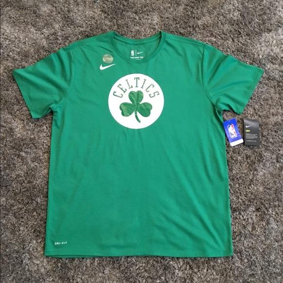new arrivals 755fa 5b73d Boston Celtics Nike Dri-FIT T-Shirt - Sz 2XL NWT